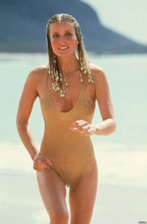 UNSPECIFIED - JULY 27:  Medium shot of Bo Derek as Jenny, wearing bathing suit, running on beach.  (Photo by Warner Bros./Getty Images)